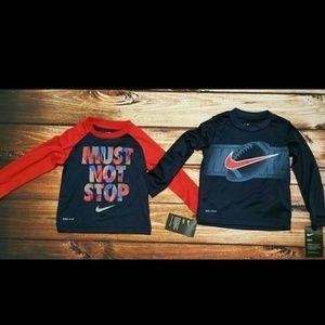 Toddler 2T Nike Dri Fit long sleeve shirts